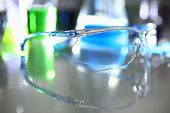 Protective Surgical Goggles For Operations And Chemical Gas Research poster