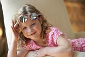 Cute Girl Wearing Sunglasses