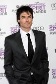 LOS ANGELES - FEB 25:  Ian Somerhalder arrives at the 2012 Film Independent Spirit Awards at the Beach on February 25, 2012 in Santa Monica, CA