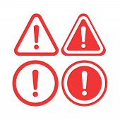 Warning Icon Vector. The Attention Icon. Danger Symbol. Alert Icon poster