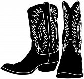 Western Cowboy / Cowgirl Boot Black Vector Silhouette poster