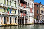 Old Houses On Grand Canal, Venice, Italy poster