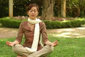 Chinese Devotee Meditate