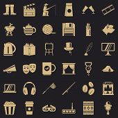 Culture Icons Set. Simple Style Of 36 Culture Vector Icons For Web For Any Design poster