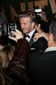 WEST HOLLYWOOD, CA - FEB 26: David Beckham at the Vanity Fair Oscar Party at Sunset Tower on Februar