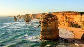 Australian Seaside, Twelve Apostles Rock Formations Near Great Ocean Road , Port Campbell National P poster