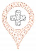 Mesh Clinic Pointer Polygonal Symbol Vector Illustration. Carcass Model Is Based On Clinic Pointer F poster