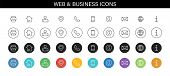 Set Of Business Card Icons. Name, Phone, Mobile, Location, Place, Mail, Fax, Web. Contact Us, Inform poster