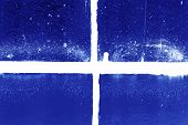 High Contrast Negative Dirty Old Window Frame poster
