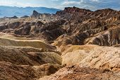 Badlands of the Death Valley National Park seen from Zabriskie Point. California, USA poster