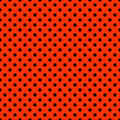 Bright Red & Black Polkadot Pattern