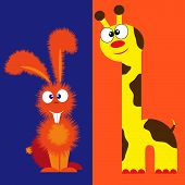 Giraffe And Hare