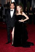 LOS ANGELES - FEB 26:  Brad Pitt, Angelina Jolie arrives at the 84th Academy Awards at the Hollywood