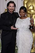 LOS ANGELES - FEB 26:  Christian Bale; Octavia Spencer arrives at the 84th Academy Awards at the Hol