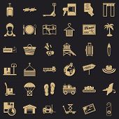 Luggage Icons Set. Simple Set Of 36 Luggage Vector Icons For Web For Any Design poster