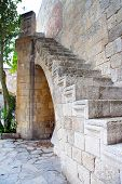 stock photo of filerimos  - Greece Rhodes Monastery on a Filerimos mountain - JPG