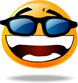 Smiley Icon - Wearing Sunglasses