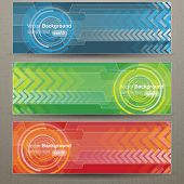 Colorful circle and arrow background, vector