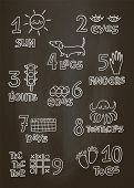 Numbers And Counting Practice Printable Poster, Worksheet For Pre School, Kindergarten Kids. Numbers poster