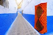 Traditional Moroccan Architectural Details In Chefchaouen Morocco, Africa. Chefchaouen Blue City In  poster