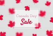 Canada Day Sale, Simple Poster Template With Red Maples. poster