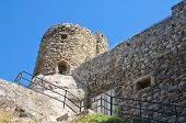 stock photo of saracen  - Perspective of the Saracenic Fortress - JPG