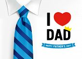 I Love You Dad, Happy Father`s Day Lettering Background. Happy Fathers Day Calligraphy Banner With W poster