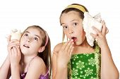 Children Llistening To Secrets And Stories
