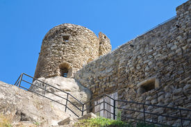 foto of saracen  - Perspective of the Saracenic Fortress - JPG