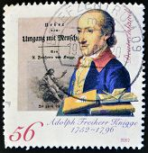 GERMANY - CIRCA 2002: A stamp printed in Germany shows Adolph Freiherr Knigge circa 2002