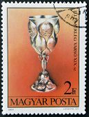 A stamp printed in Hungary shows Chalice from Warsaw