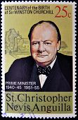 ST CHRISTOPHER NEVIS ANGUILLA - CIRCA 1974: A stamp printed in St Christopher Nevis & Anguilla shows