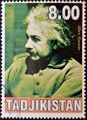TAJIKISTAN - CIRCA 2000: A stamp printed in Tajikistan shows Albert Einstein circa 2000
