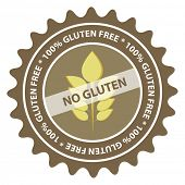 100% Gluten Free food label. EPS10.