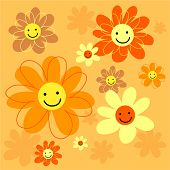 picture of dtp  - happy flowers background design - JPG