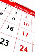 Calendar January Month 2