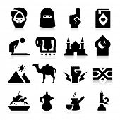 stock photo of middle eastern culture  - Arabian Culture Icons - JPG