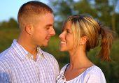 Couple In Loving Gaze poster