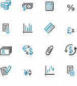 Blue And Grey Contour Finance Web Icons