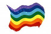 Grunge Peace Flag