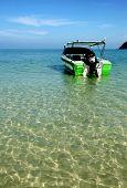 The Speedy Boat On Blue Water