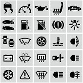 Coche dashboard icons set.