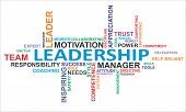 stock photo of discipline  - A word cloud of leadership related items - JPG