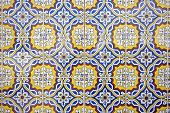 Beautiful traditional  blue colored tiles from Portugal Europe