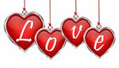 Shiny Heart Pendant Love Banner