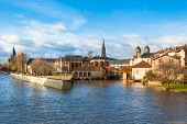 image of moselle  - View of Metz city Lorraine area of France - JPG