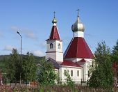 The Church Of The Nativity Of St. John The Baptist In The City Of Kandalaksha. North Of Russia