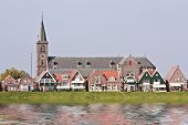 Late medieval church in Volendam the Netherlands poster