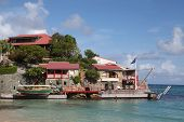 The beautiful Eden Rock hotel  at St Barth, French West Indies.