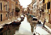 Venice Moored Boats